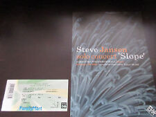 Steve Jansen 2008 Japan Tour Flyer with Ticket Stub Slope Raintree Crow Conelius