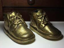 Antique brass dipped child's shoes