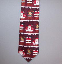 "Baronshire SANTA & A REINDEER Holiday Silk 58"" Neck Tie #748"