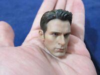 """1/6 Scale Chris Evan Captain America Head Sculpt for 12"""" Action Figure Toys"""