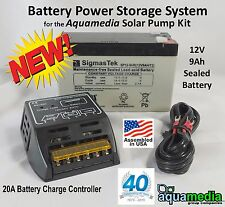 Solar Storage System Kit  w/ Battery 12v9Ah & Battery Charge Controller 12v20A