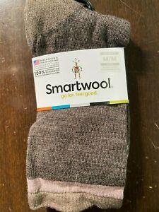 NWT Smartwool Jitterbug Merino Wool Crew Socks Taupe Brown Heather Medium
