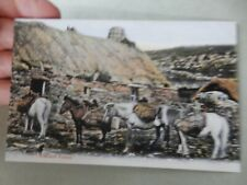 More details for postcard  p7l10  shetland ponies  croft  peats  crofting  vgc