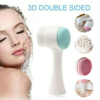 Double-sided Face Cleansing Brush Soft Silicone Facial Pore Cleaning Brush 2019