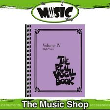 New The Real Vocal Book: Volume 4 for High Voice Music Book