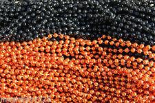Mardi Gras Beads Orange & Black 6 Dozen (72 pcs) Wholesale Lot