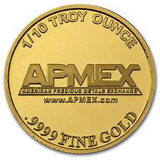 1/10 oz Gold Round - APMEX - SKU #57382