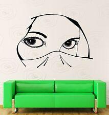 Wall Stickers Vinyl Decal Muslim Arabic Islamic Girl With Beautiful Eyes (z1843)
