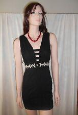 PARADISCO Black Sleeveless Cut-Out Dress Sz 8
