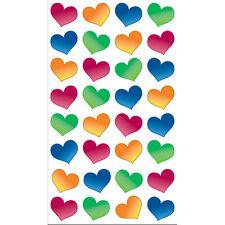 Sticko BUBBLE HEARTS Glitter 3d Scrapbook Stickers
