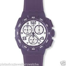 Swatch Watch SUIV400 Unisex Purple Funk Chrono New Original