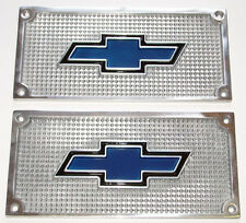 1936 - 1987  BOWTIE Running Board Step Plates Pair Chevy Truck Chevrolet  36-87