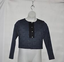 Styled by Joe Zee Printed Knit Jacket Size 8 Grey
