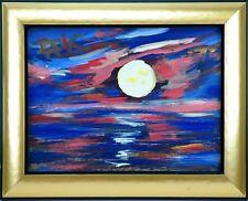 Felix Samuel Pfefferkorn *1945: Blue moon Vollmond über Bodensee 30 x 40 cm 1976
