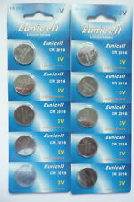 10X Eunicell CR2016 2016 3V Lithium Button Cell Coin Battery DL2016 LM2016