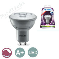Source D'Éclaraige Dimmable GU10 4,5 Watt Philips LED Blanc Chaud 230V Spot