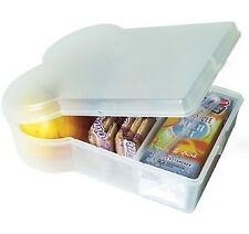 Sandwichera porta alimentos transparente caja almuerzo escolar sandwich