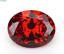Natural Oval Red Ruby 3.9ct 8x10mm Faceted Cut AAAAA VVS Loose Gemstone
