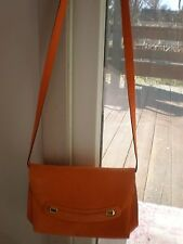 VINTAGE ITALY  Pelle Pelletteria ORANGE SUEDE Shoulder Bag Purse CROSSBODY CHIC