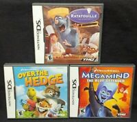 Disney Ratatouille Megamind Over Hedge Nintendo DS Lite 3DS 2DS 2 Game Lot Works