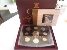 united kingdom UK 2002 proof set 9 coins in boxed mint condition & papers