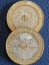 Pièces de monnaie françaises de 20 francs 20 francs en nickel à 40 francs