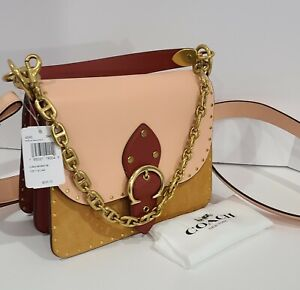 NTW's Coach Beat Shoulder Bag Colorblock With Rivets $595 BRAND NEW