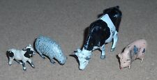 Vintage Britains Toys Herald Metal Lead Farm Animals Cow Calf Sheep & Pig
