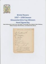 BRISTOL ROVERS & QPR 1937-1938 RARE ORIG HAND SIGNED AUTO BOOK PAGE 17 X SIGS