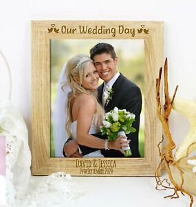 Personalised Our Wedding Day Photo Frame Wedding Anniversary Engagement Gift