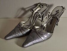 Nina Women's Sexy Party Sexy Sparkle Grey High Heels Shoes Size 8.5 M