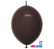 """20ct. DELUX BROWN  Link-o-Loon 12"""" Latex Helium Linking Balloons ARCHES ARBORS"""