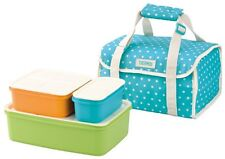 Thermos Bento Lunch Box Container bag Blue Dots from Japan