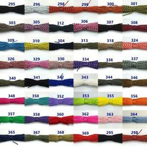 New Color! 50-100FT One Stand 2mm Paracord Parachute Cord Tent Lanyard Rope UK