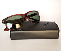 Persol Sunglasses 3027-S Black case Authentic Small Italy size 53-18 Rectangular
