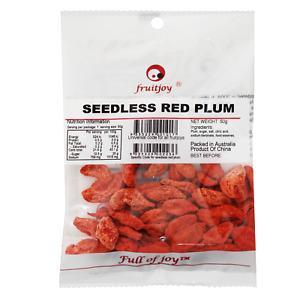 Fruitjoy Seedless Red Plum 50g x 10 [Dried Fruit | Salty Plums]