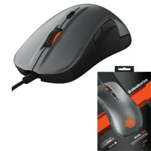 SteelSeries Rival 300 Optical Gaming Mouse Gunmetal Grey USB 6buttons From Japan