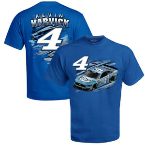 Kevin Harvick # 4 Nascar 2021 Royal Men's 2 Sided T-Shirt Fuel Size 2XL