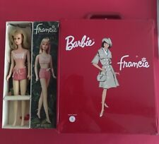 Vintage Barbie's  Francie doll + Travel case made in France 1966