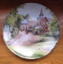 1987 Collector's Plate LIMOGES Le dimanche au village 'Sunday in a VIllage'