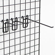 """Count of 50 New Retail Black Triangle Grid Screen Spinner 4"""" for Peg hooks"""