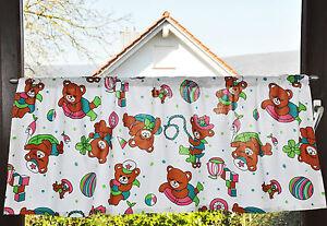 - 52 - Bären Bärchen Tiere Bär -  Kinderzimmer Scheibengardine Gardinen