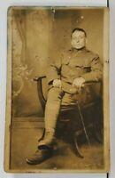 Rppc WWI Muscatine Illinois Soldier Carl Sherrill Beardstown IL Postcard M4