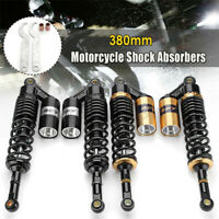 2pcs 15'' 380MM Rear Air Shock Absorber Suspension For ATV Motorcycle Dirt
