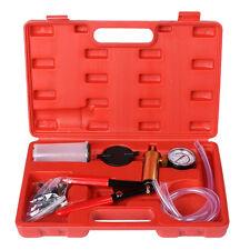 2 In 1 Brake Fluid Bleeder Hand Held Manual Vacuum Pump Tool Kit w/Box BT E3G7