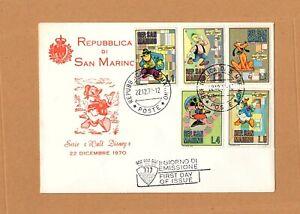 1970 SAN MARINO WALT DISNEY FIRST DAY COVER