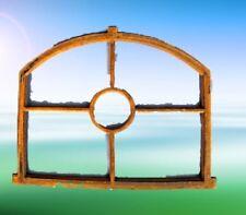 Stall Fenster mit Klappe Gußeisen rostig 50x75cm Vintage Spiegel Deko Geschenk