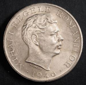 1946, Kingdom of Romania, Mihai I. Large Silver 100,000 Lei Coin. AU-UNC!