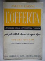 L'offerta 4 Gianni Angelo D'Anna letteratura scuola antologia istituti tecnici