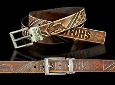 860041 SOUTH SYDNEY RABBITOHS NRL TEAM BROWN LEATHER BELT UP TO 145CM LONG